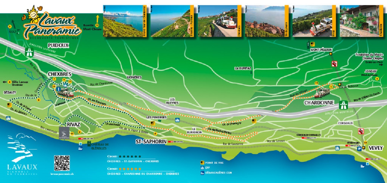 The map of our different itineraries